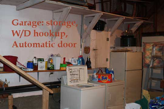 Garage: W/D hookup, automatic door