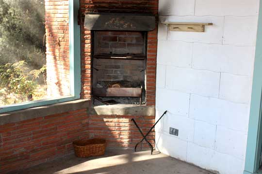 Fireplace on Front Porch